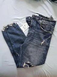 Slim Bottom Ladies Stylish Denim Jeans, Packaging Type: Poly Bag