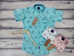 Black Spate Cotton Blue Mens Formal Shirt, Machine wash, Size: M-XXL