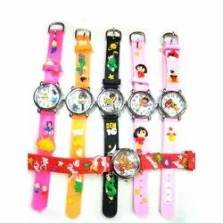 Round Analog Kids Wrist Watches, For Daily