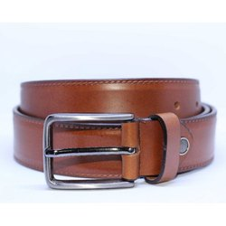 Funny Stitch Textured Leather Belt