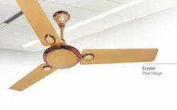 Crystal Pearl Beige Ceiling Fan
