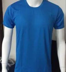 Casual Wear Half Sleeve Plain Round Neck T Shirt