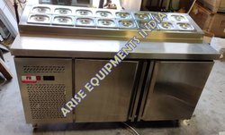 Pizza Makeline with Double Row GN Pans