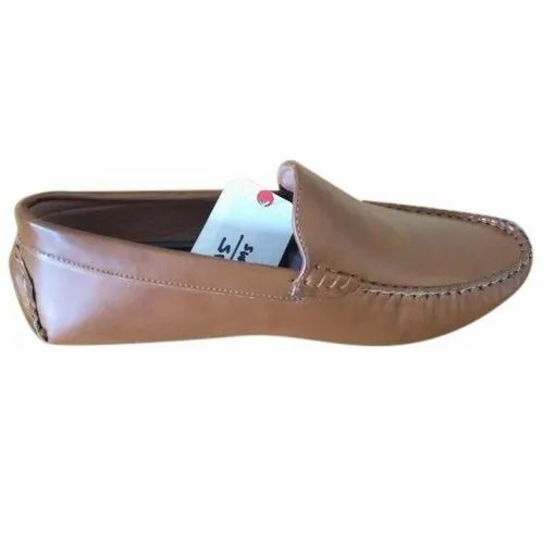 Formal Brown Leather Loafer Shoes