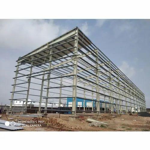 Mild Steel Modular Industrial Warehouse Sheds