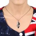 Chic Designs Honeycomb Pendant Chain Necklace, Gross 6.02 Gms, Size: 43.5x19 Mm 18 Inch
