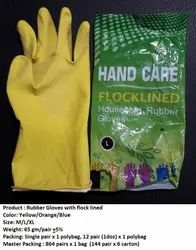 Yellow Unisex Sure Rubber Gloves, Hand Care, Material: Latex