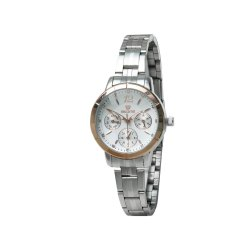 Skone 7318-1 Chronograph White Dial Women Watch
