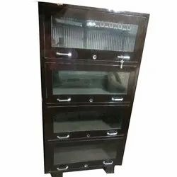 Brown 4 Shelves Steel Cabinet