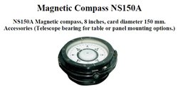 Metal Black Marine Magnetic Compass, Packaging Type: Box, Size/Diameter: 150mm
