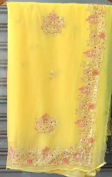 Party Wear Pure Chiffon Designer Saree