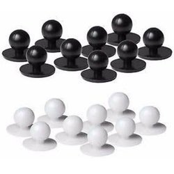 White and Black Plastic Chef Coat Buttons, Size/Dimension: 22 Mm