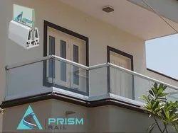 Aluminium Toughened Glass Aluminum Balcony Railing, For Home,Hotels