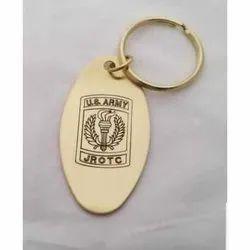 Metal Key Rings, Pattern: Embossed