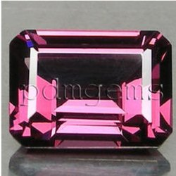 Rhodolite Garnet Faceted Octagon Gemstone