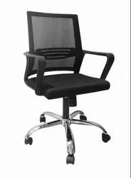 Fixed Arm Revolving Office Chair