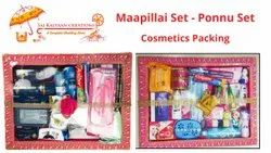cosmetic packing - ponnu set & Mappilai gift set