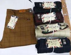 Mens Cotton Check Pants