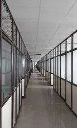 Hinged tophend Glass partition door 12mm, For Office, Size/Dimension: 200 Sqft