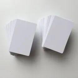 White Blank PVC Card, Size: 54 X 86 Mm