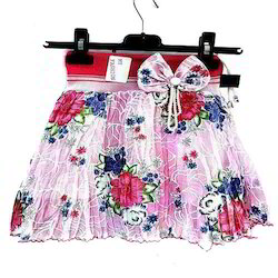 My Fashion Multicolor Girls Fancy Cotton Skirt