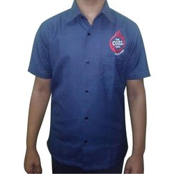 Cotton Half sleeves Worker Uniform Shirt, Size: M
