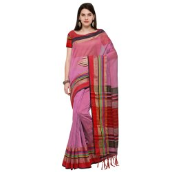 Purple & Maroon Colored Poly Silk Casual Saree