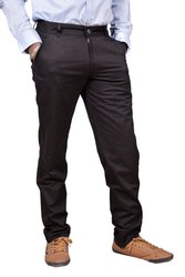 Cotton Black Regular -Fit Flat Trousers, Size: 28 To 40