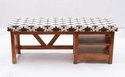 Natural Fibers Wooden Seating Table With Seated Cushions