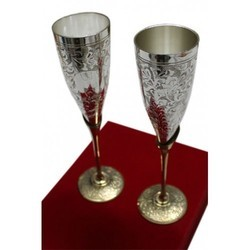 2 Set Silver Plated Glasses