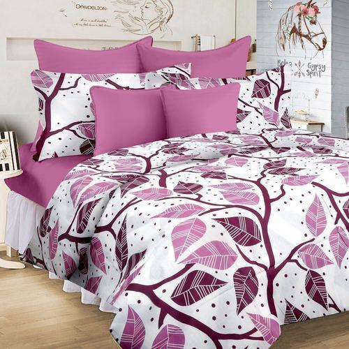 Floral Printed Multi Floral Bed Sheet