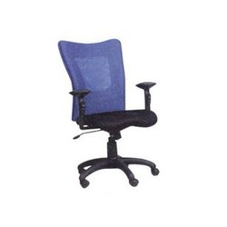 Maruthi Enterprises Blue & Black Revolving Staff Chair, For Office