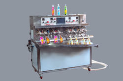 Pack tech Semi-Automatic Juice Pouch Packing Machines, Packaging Type: Ss, 2 Hp