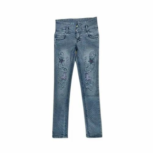Jayshree Fab Comfort Ladies Printed Denim Jeans, Packaging Type: Packet ,Waist Size: 28-34 Inch