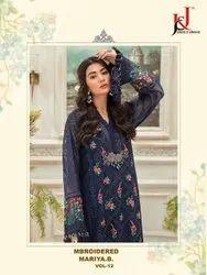 Junaid Jamshed Georgette J J Embroidered Mariya B Vol 12