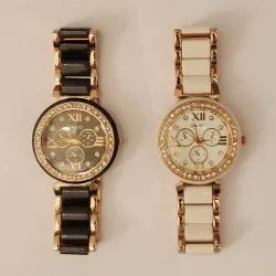 Analogue White Dial & Black Dial Womens Watches Combo Pack