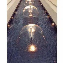SS & Brass SIlver Umbrella Fountain