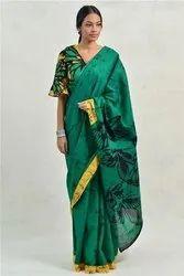 Mulmul Cotton Batik Printed Sarees
