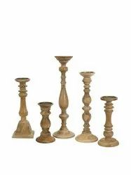 Wooden Designer Candle Stand
