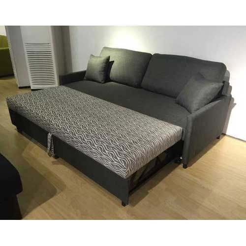 0f014b67a71 Black Solid Wooden Sofa Cum Bed