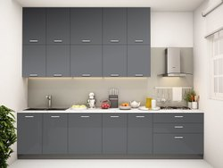 PVC Parallel Shape Modular Kitchen, Warranty: 10-15 Years