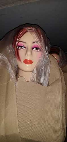 Fiberglass Female Fancy Mannequin Head
