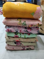 Printed Digital Print Linen Fabric, for Dress, GSM: 100-150