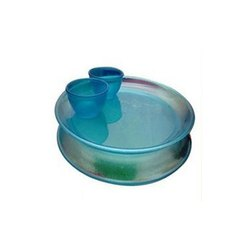 Blue Transparent Plates & Bowls