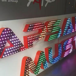 Button LED Signage