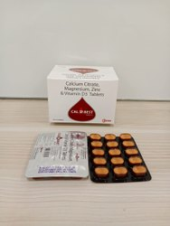 Calcium Citrate, Magnesium, Zinc & Vitamin D3 Tablets, Packaging Type: Box, Packaging Size: 5 X 3 Tablet