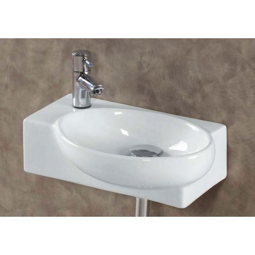 Ceramic White Corner Wash Basin