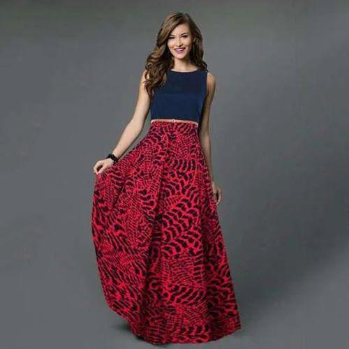 Velvet Western Wear Ladies Long Dress