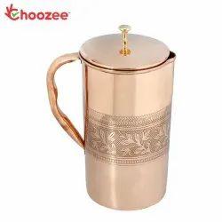 Choozee - Copper Jug (Embossed) - 2.2 Ltr.