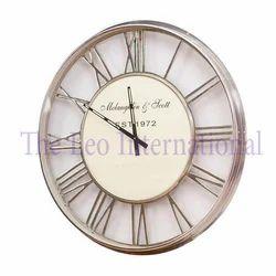Roman Letter Aluminium Metal Decorative Wall Clock